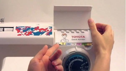 Toyota ECO 34C, Drop in Bobbin and Auto Needle Threader - 'Child Friendly' Suggested by Abigail