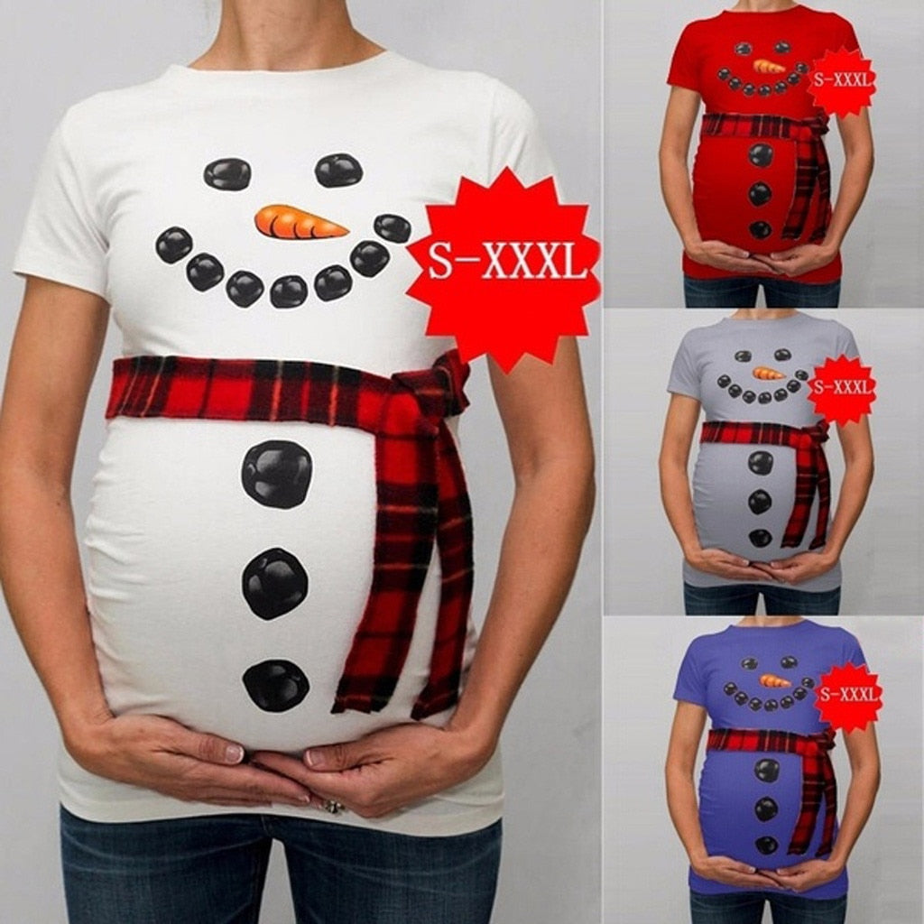 Snowman Cartoon Maternity TShirts