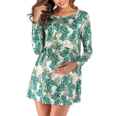 Maternity Clothes With a Leaf Pattern