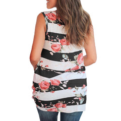 CHAMSGEND Pregnant woman's sleeveless shirt