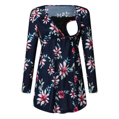 Long Sleeve Floral Print for Women Pregnancy