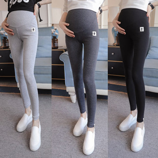 Maternity Leggings for Pregnant Woman with Cute Kitten Pattern