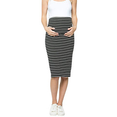 Women Maternity Skirt High Waisted