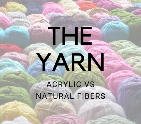 Acrylic yarn vs natural fibers