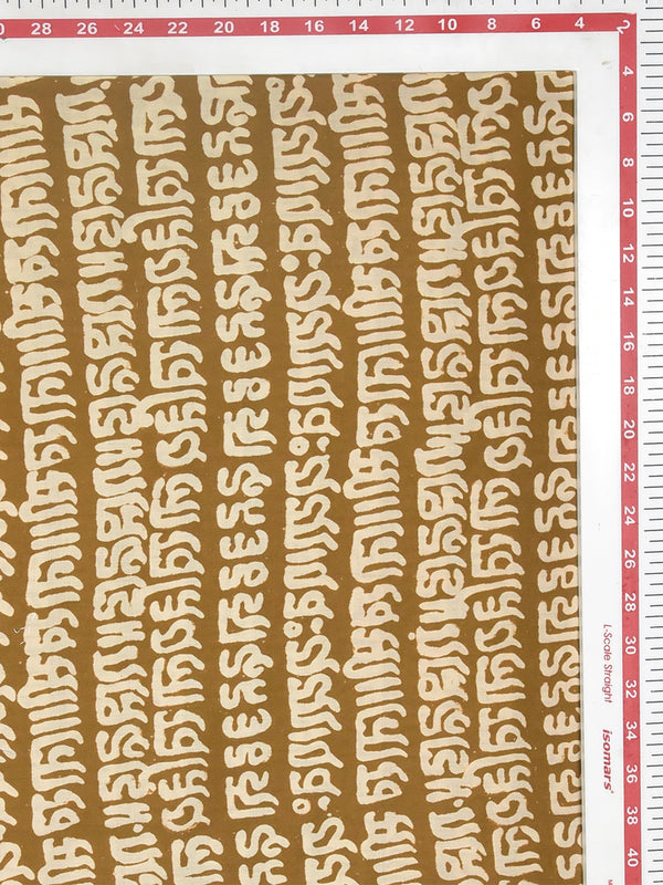 Sanganeri Discharge Mantra Pattern Cotton Cambric Fabric