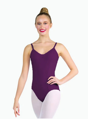 RAD Grade 5, Inter/ foundation, Intermediate, Dual Pinch Camisole Leotard  - Aubergine