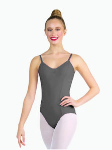 Diploma of Dance Elite Performance, Dual Pinch Camisole Leotard - GREY