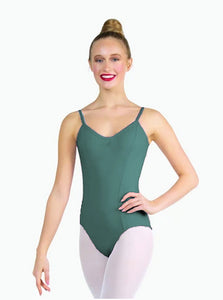 Advanced Diploma of Dance Elite Performance,  Dual Pinch Camisole Leotard - TEAL