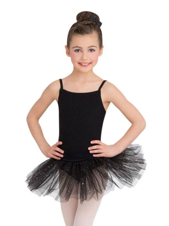 Little Nashie Belted Camisole Tutu Dress - Black