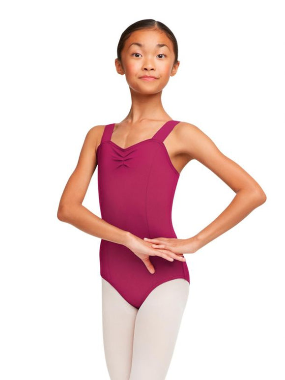 Junior Extension Ballet -Cerise Children's Pinched Sweetheart Wide Strap Leotard