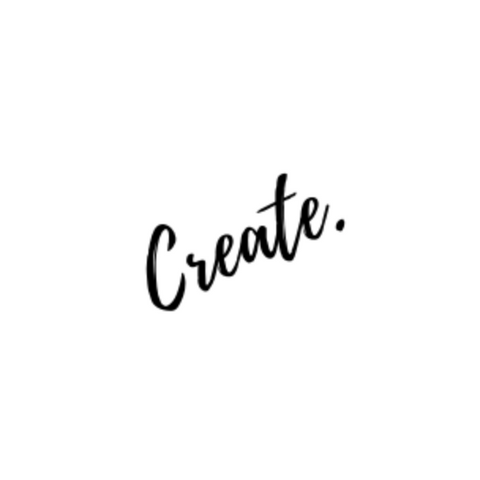 create. my word for 2021