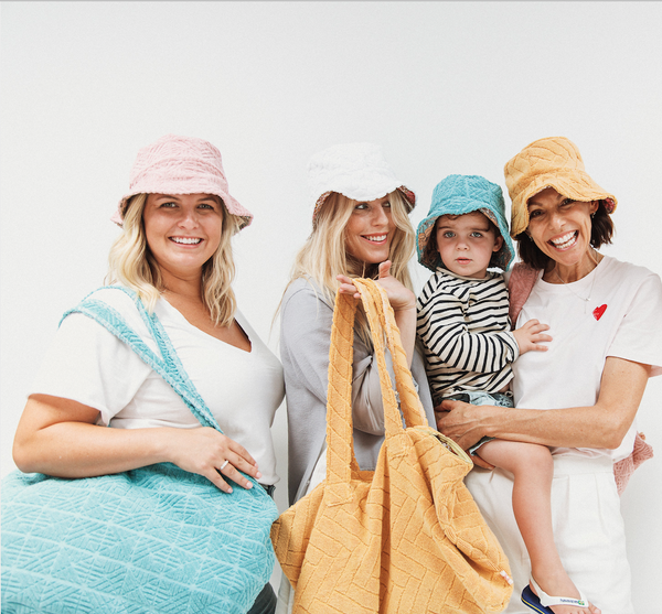 towelling hats and bags