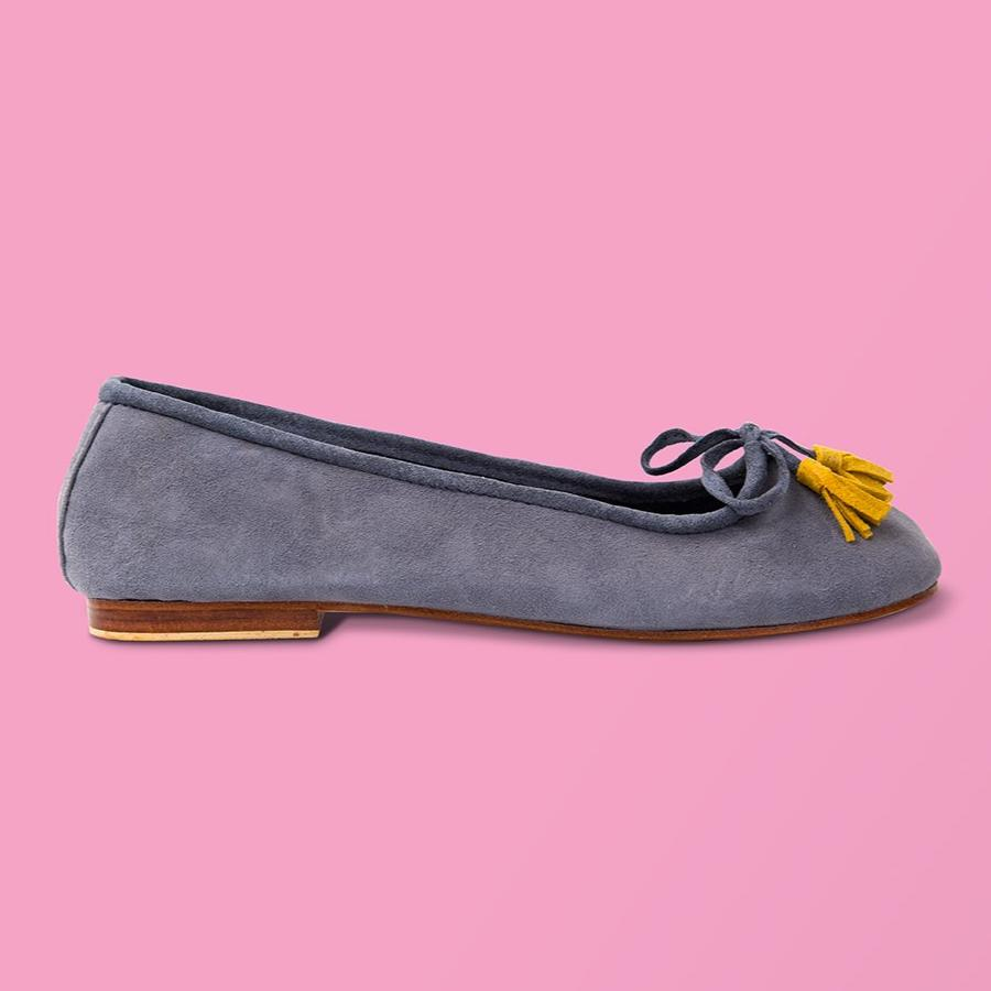 Bluestone Suede Ballet Flat - Creative Finds