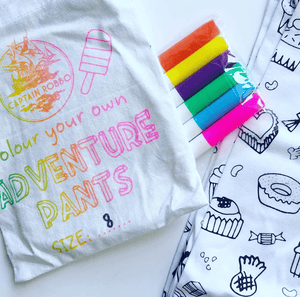 Colour your own adventure pants