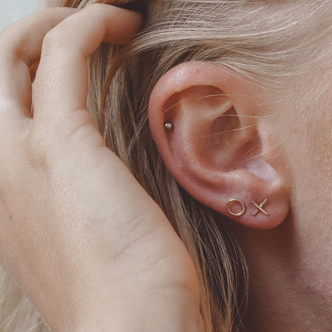 X&O Rose Gold Stud Earring - Creative Finds