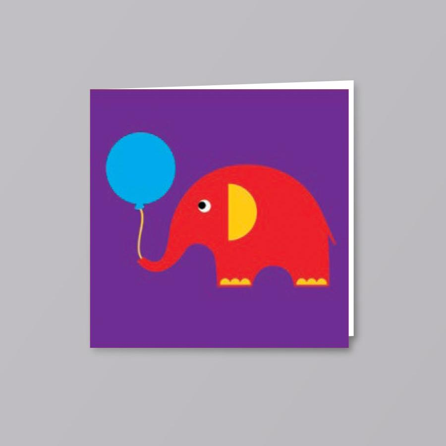 Kids Card Elephant - Creative Finds