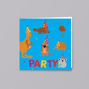 Kids Card Party Animals - Creative Finds