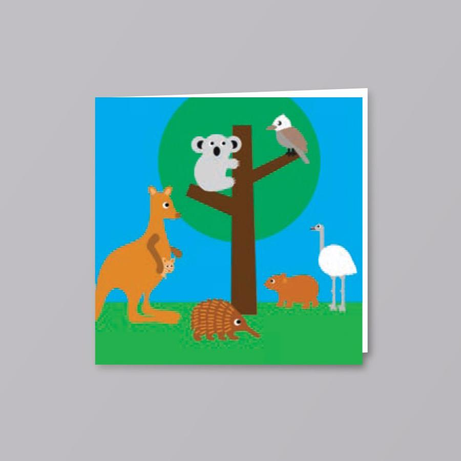 Kids Card Animals In Trees - Creative Finds