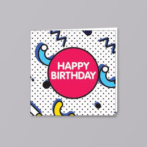 Birthday Card Pink Circle - Creative Finds