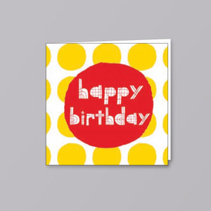 Birthday Card Yellow Spot - Creative Finds