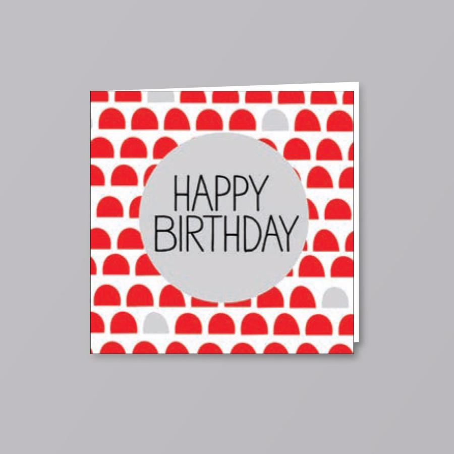 Birthday Card Grey Circle - Creative Finds