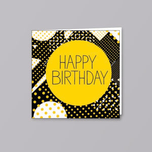 Birthday Card Yellow Circle - Creative Finds