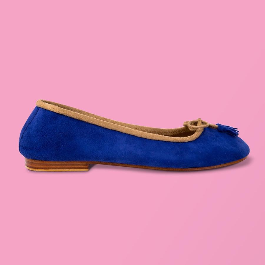 Royal Blue Suede Ballet Flat - Creative Finds