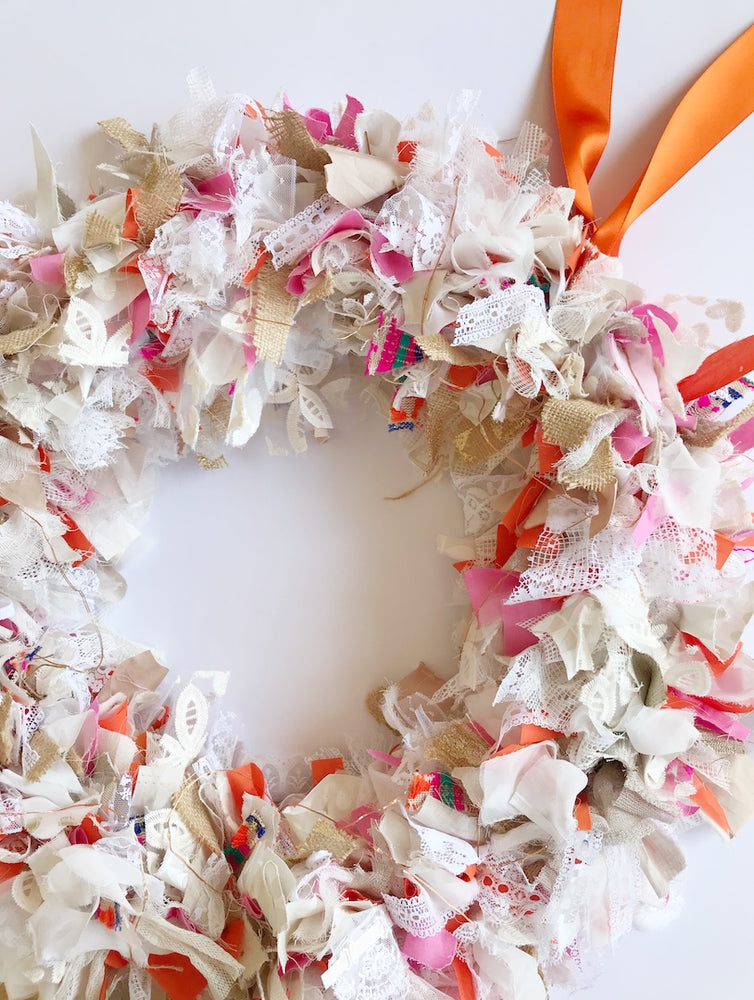 Christmas Wreath - orange & pink 2
