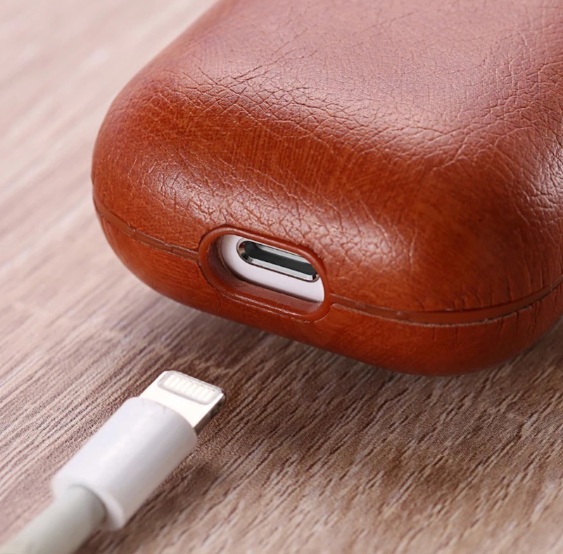 leather AirPods case