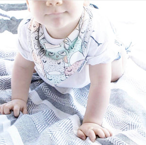 Organic Cotton Baby Bib Animal Friends - Creative Finds