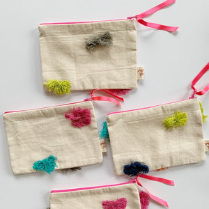 fabric purse with tassels