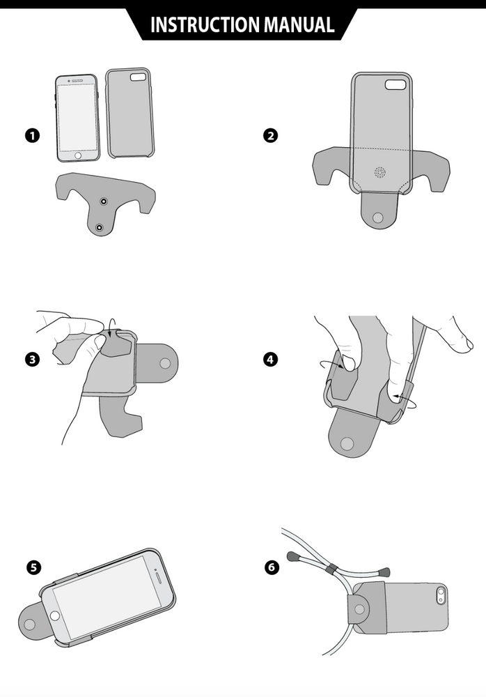 leather phone connector instructions