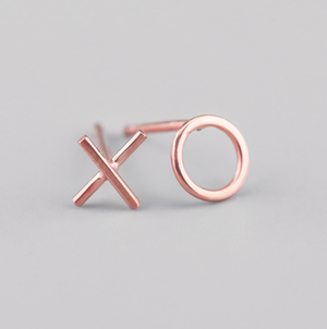 X & O stud earrings