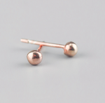 rose gold nugget studs