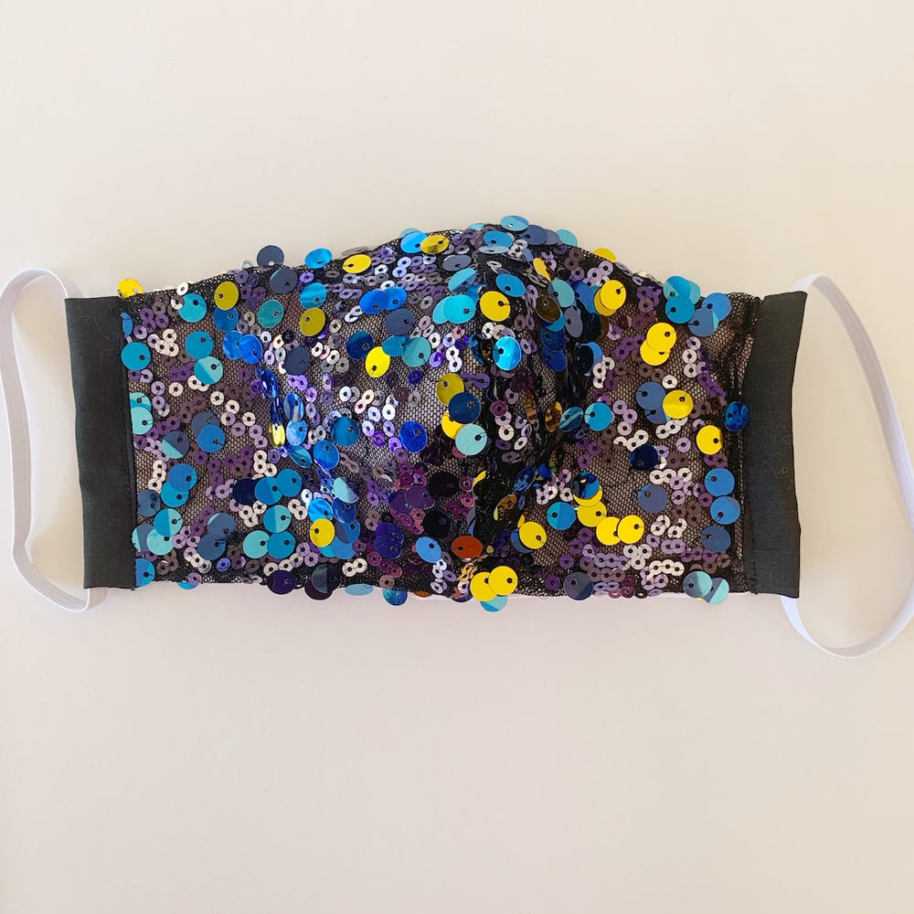 sequin fabric face-masks