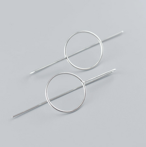 Circle Stalk Earrings