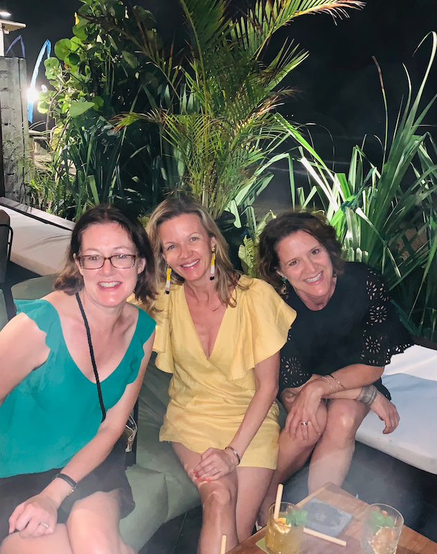 After dinner drinks at The Lawn Canggu - creative finds on tour