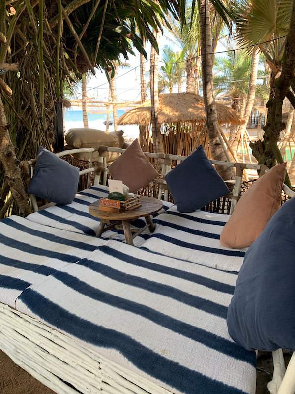 day bed at La Brisa - Creative Finds on tour