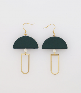 Black Drop Earrings Middle Child