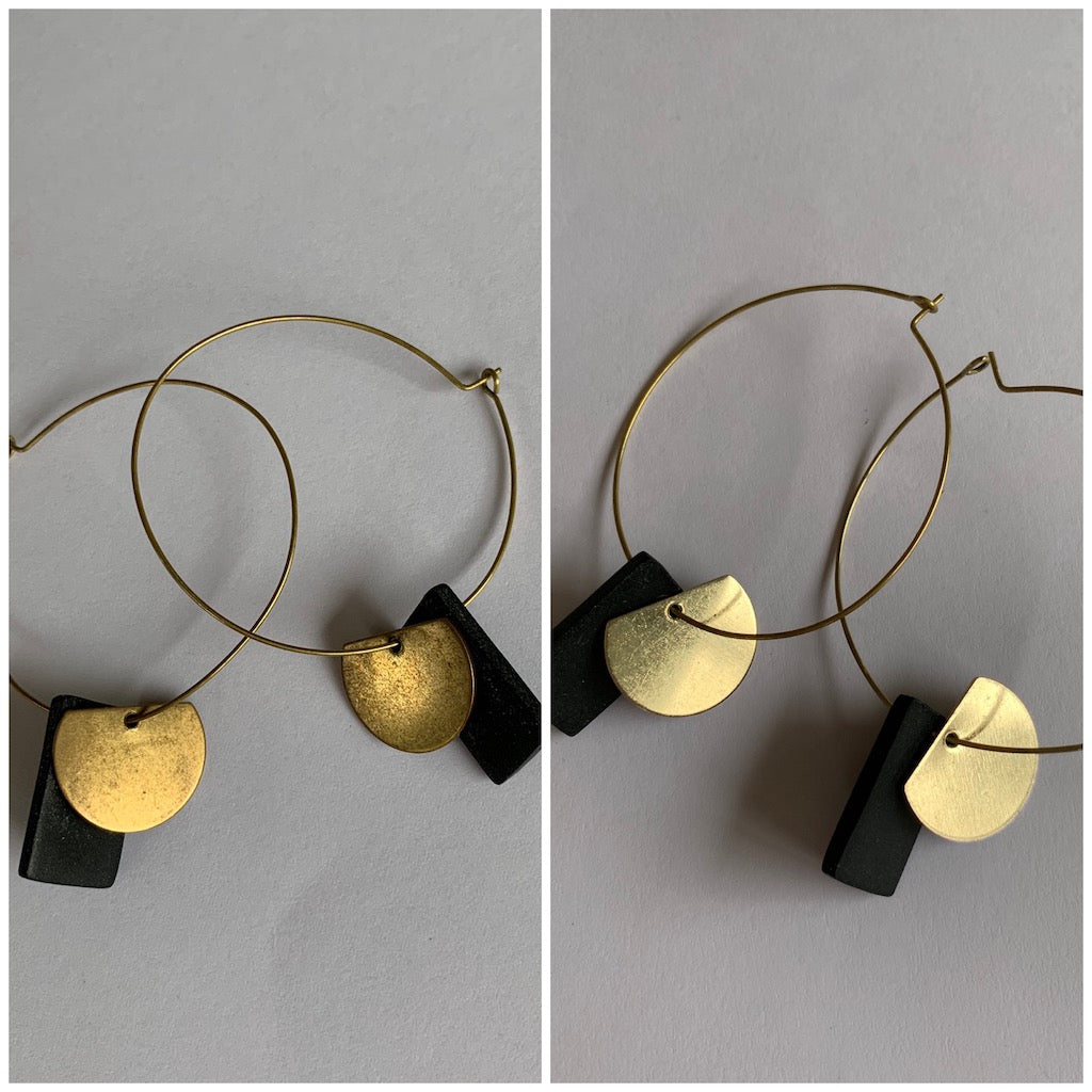 Raw Brass Earrings - Creative Finds