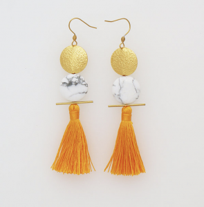 Middle Child Orange Tassle Earrings