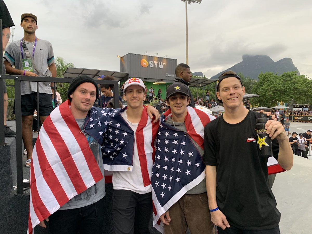 American Cory Juneau wins Men's Park title at the World Skate Oi STU Open in Brazil as USA sweeps podium; Jake Ilardi takes second in Men's Street