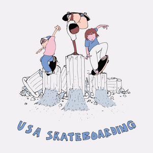 "Henry Jones USA Skateboarding ""Pillars"" Tee"