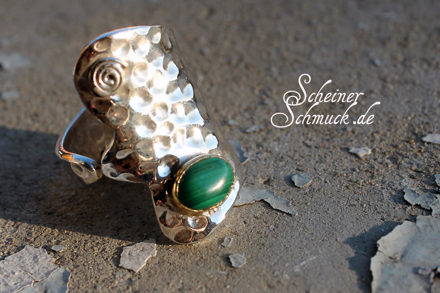 Silberring Crazy Malachit Silver