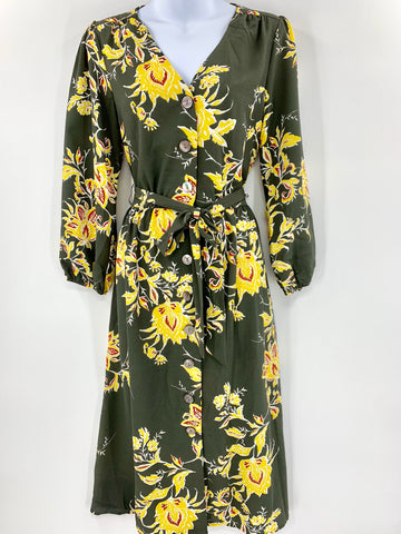 SG BUTTON UP MIDI DRESS