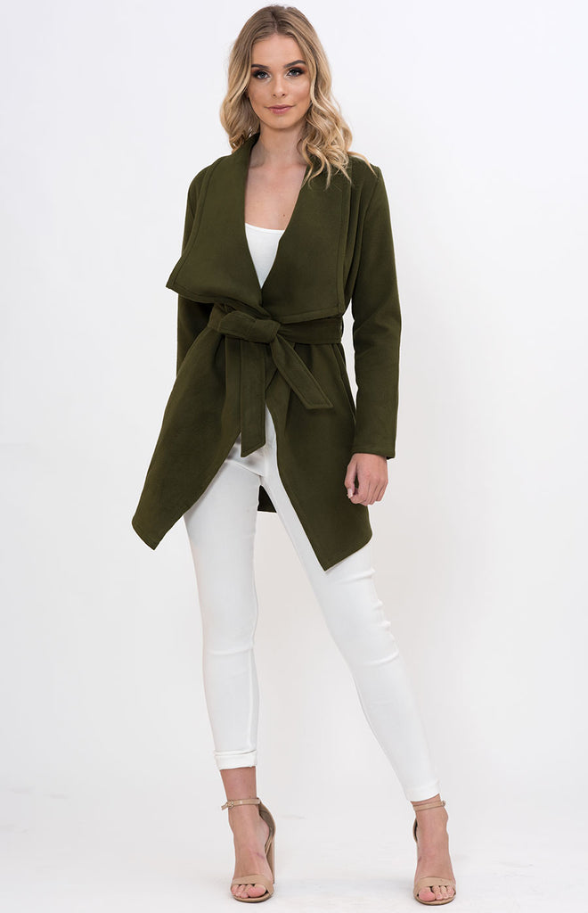SOGNA COL WATERFALL WRAP COAT