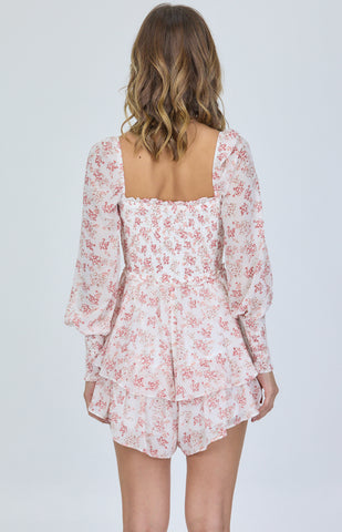SOGNA CO LONG SLEEVES FLORAL PLAYSUITS