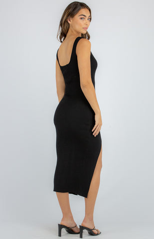 SOGNA COL MIDI KNIT DRESS