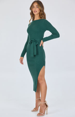 SOGNA CO KNIT MIDI DRESS
