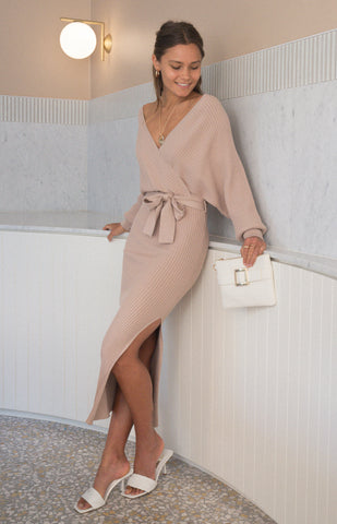 SOGNA COL V KNIT DRESS